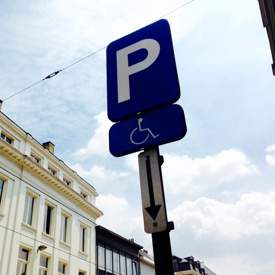 Parking for people with disabilities - copyright