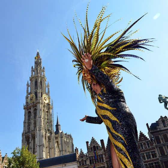 gay-friendly Antwerp - copyright Jan Crab